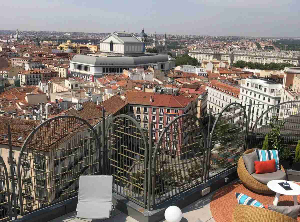 A view of Madrid from the Aloft Hotel. Photo by Lori Zaino/ The Points Guy.