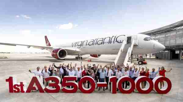 The first Virgin Atlantic A350-1000. (Courtesy of Virgin Atlantic)