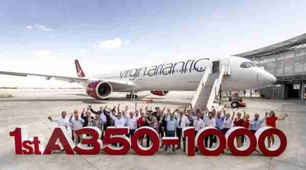 The first Virgin Atlantic A350-1000. (Courtesy of Virgin Atlantic)