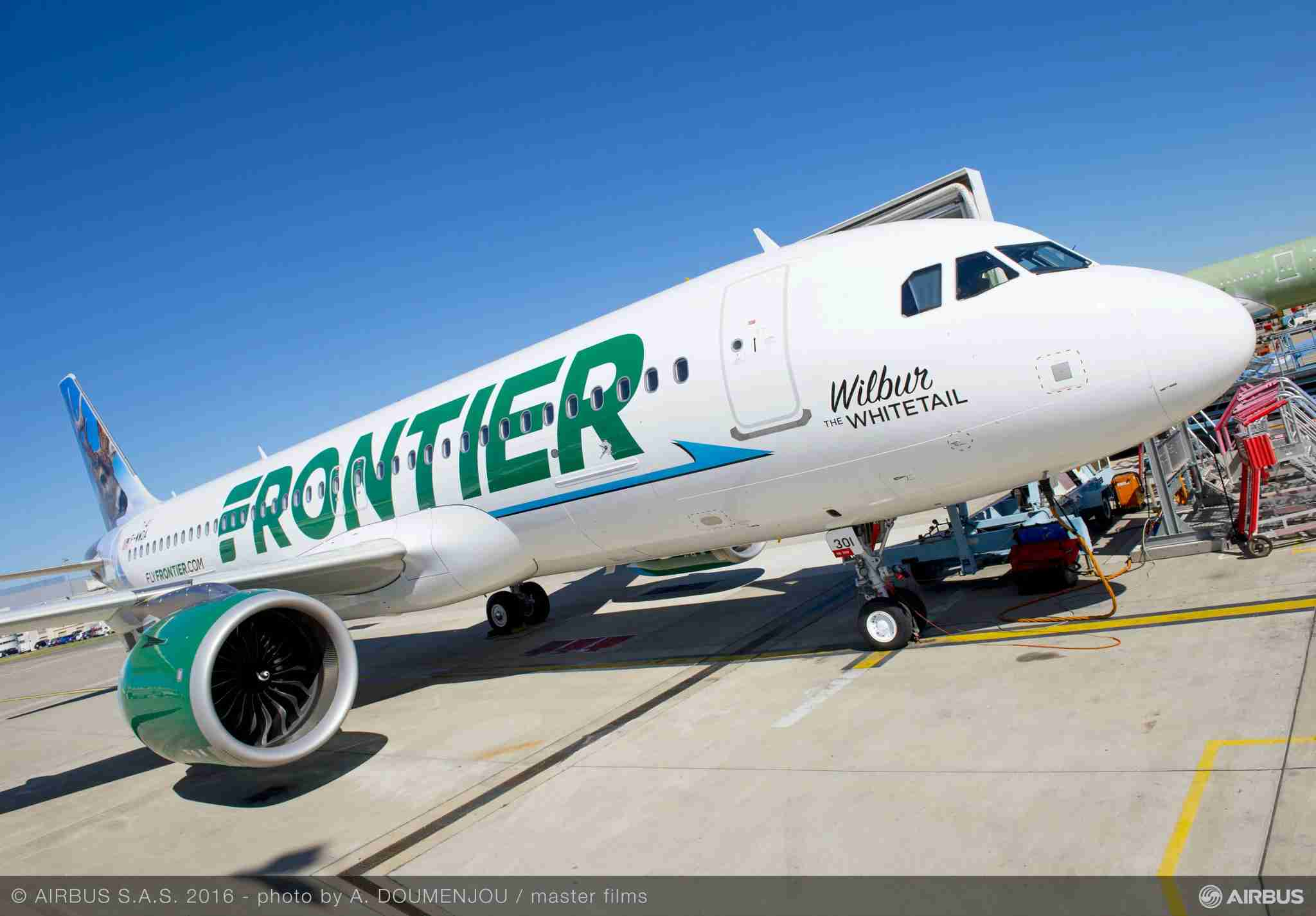Frontier currently operates 43 Airbus A320neo aircraft with an additional 104 aircraft on order, down from 119. (Image courtesy of Airbus)