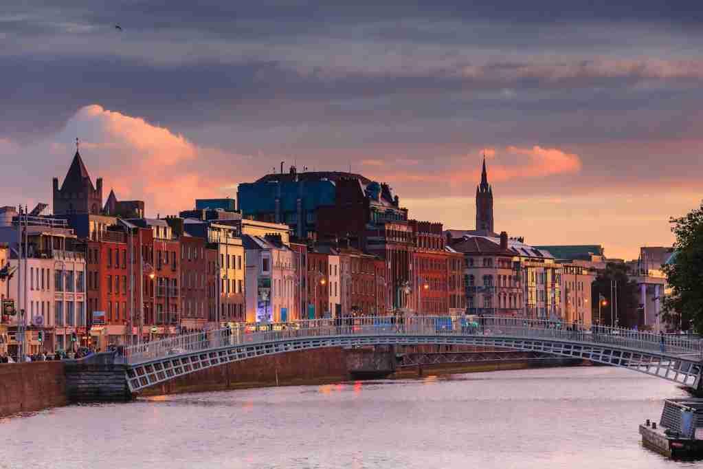 Dublin, Ireland, half penny bridge