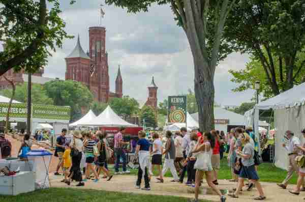 The Smithsonian Folklife Festival. (Photo by Tim Brown / Getty Images)
