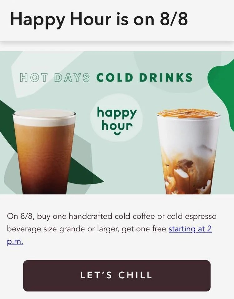 Get A Free Iced Starbucks Drink With Your Purchase Today