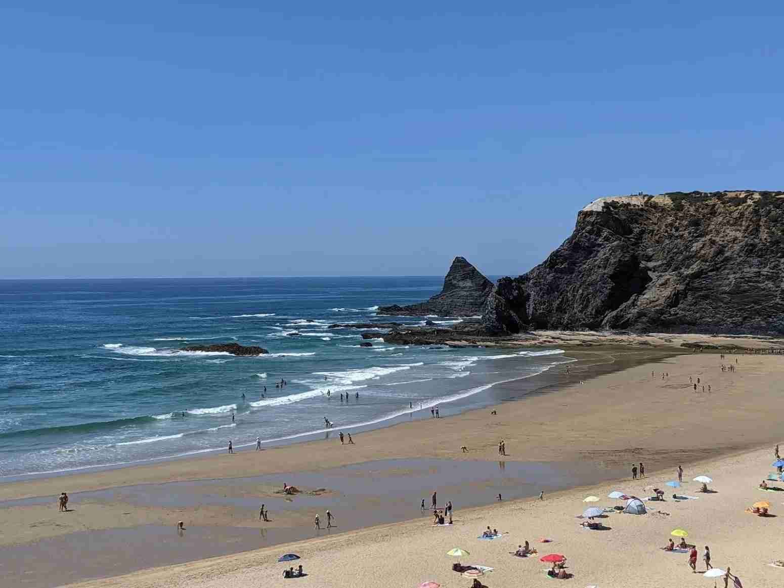 Driving along the coast allowed us to visit Praia de Odeceixe Mar which is on the western coast of the Algarve (Photo by Jennifer Yellin / Deals We Like)