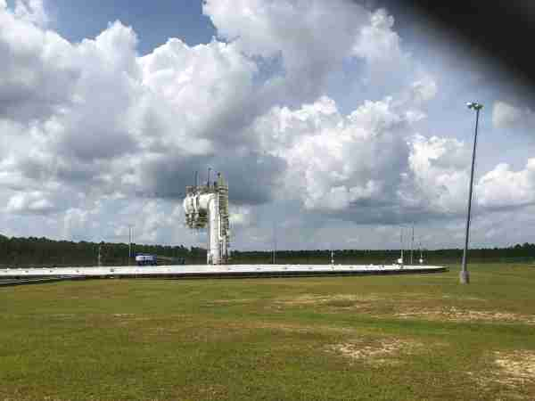 The noise testing arena at the Stennis Space Center. Photo by Zach Wichter/TPG.
