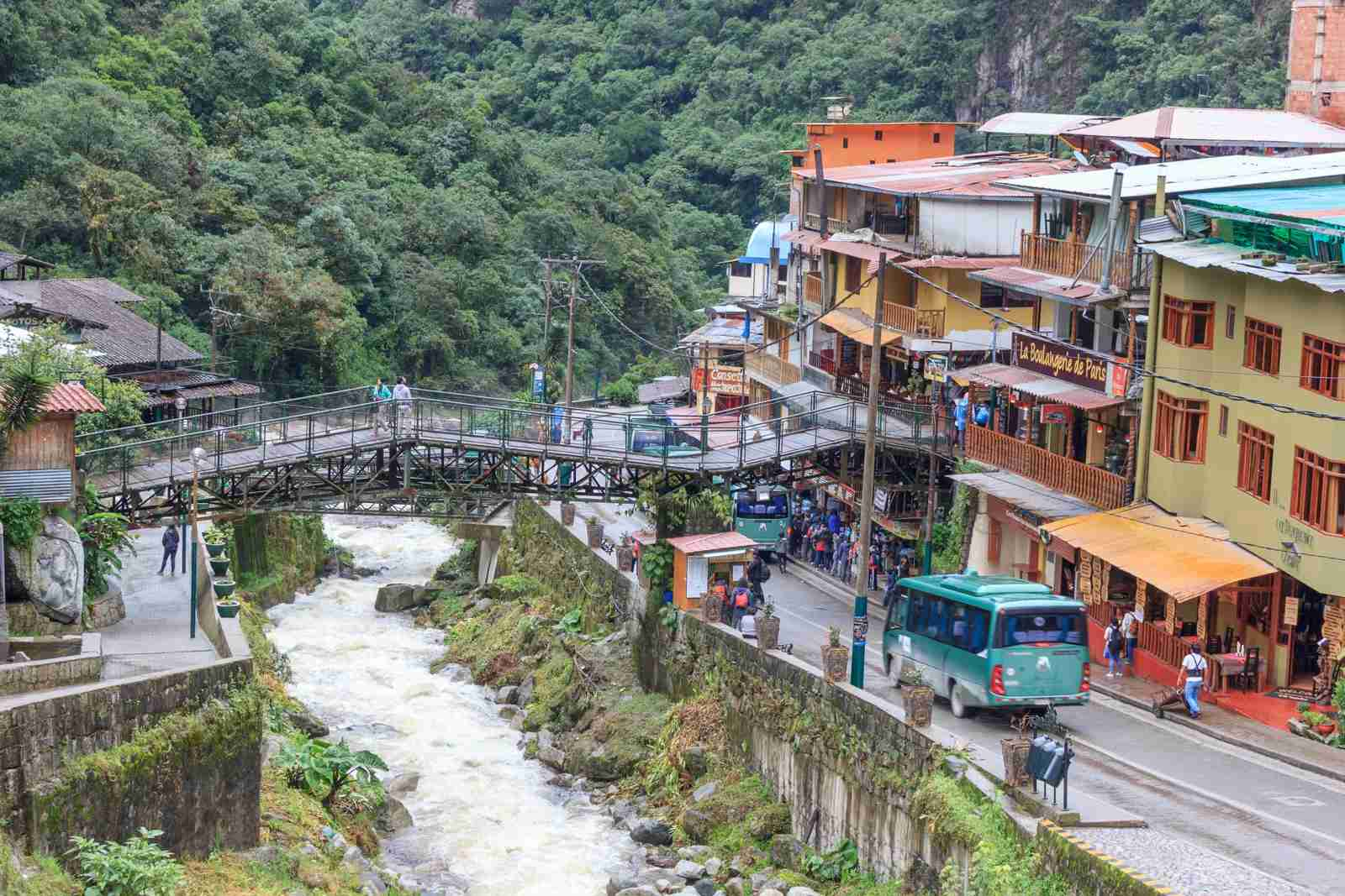 Aguas Calientes city near Machu Picchu. (Photo by ElOjoTorpe/Getty Images)