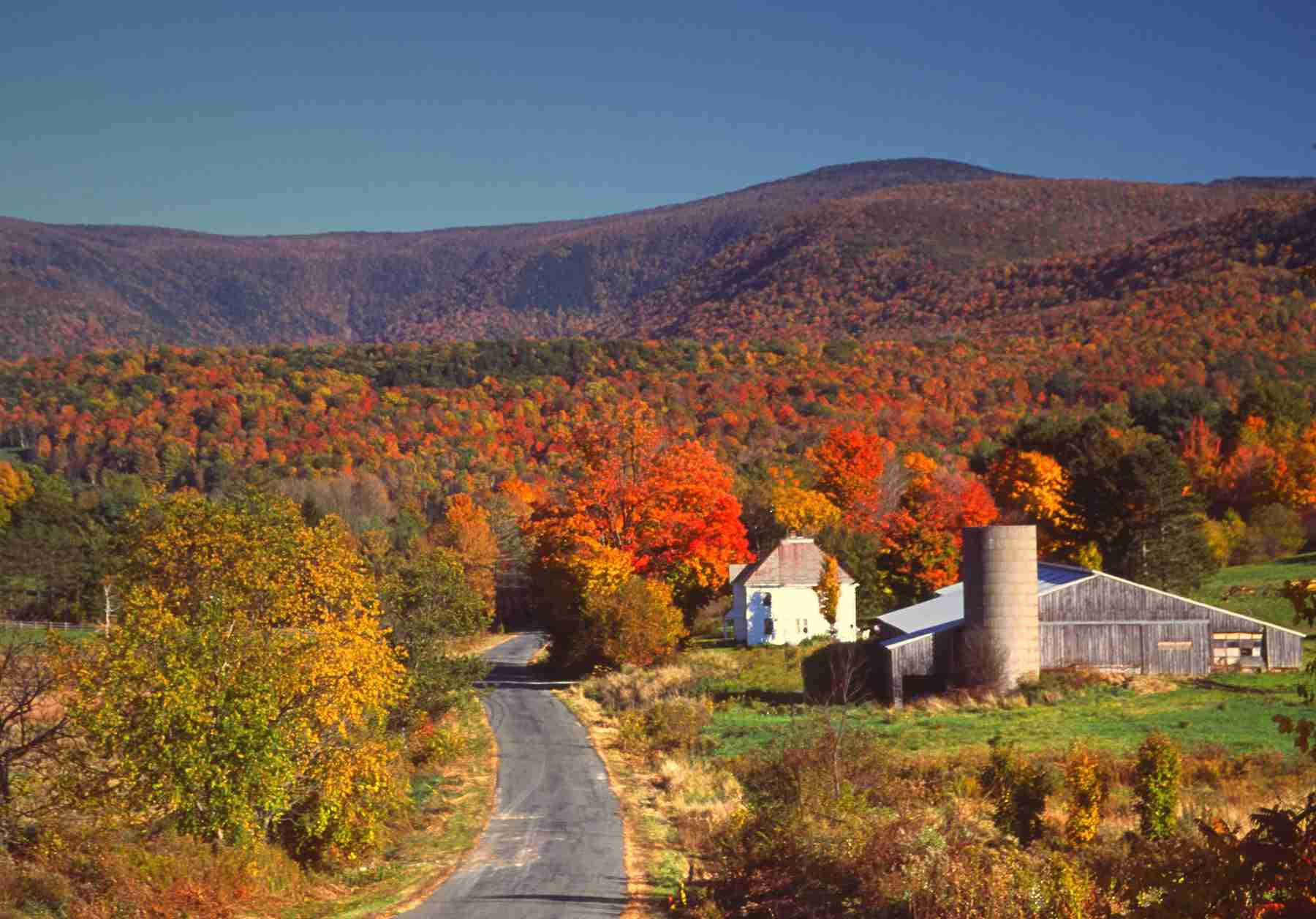 The Berkshires region of Massachusetts with Mt Greylock in the background.