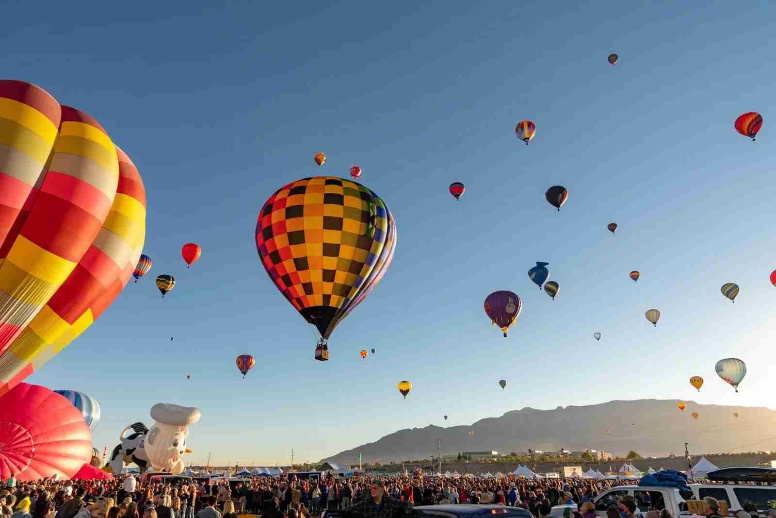 Hot Air Balloon Festival in Albuquerque. (Photo by Starcevic / Getty Images)