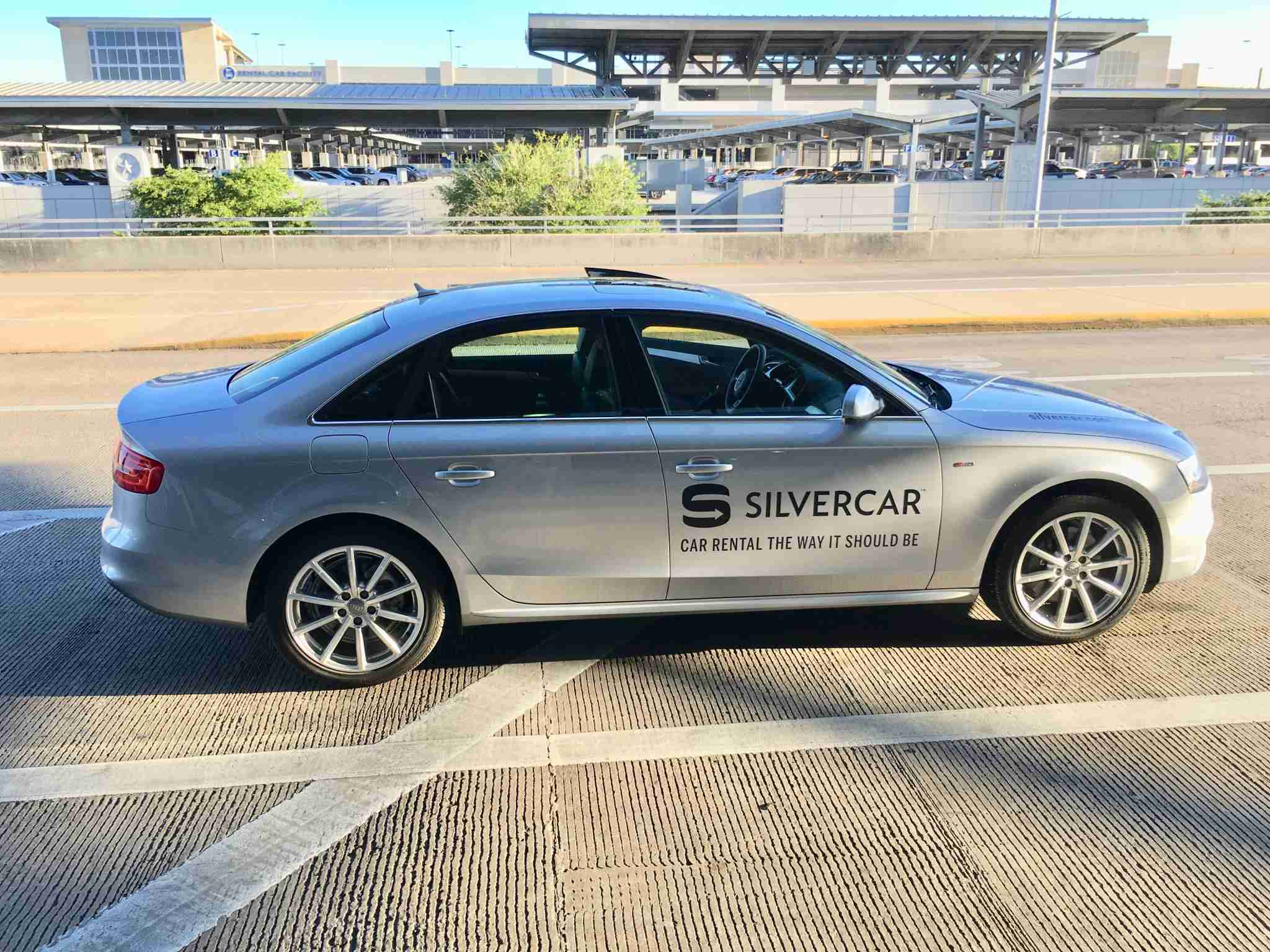 Silvercar picking us up in Austin (Summer Hull / The Points Guy)
