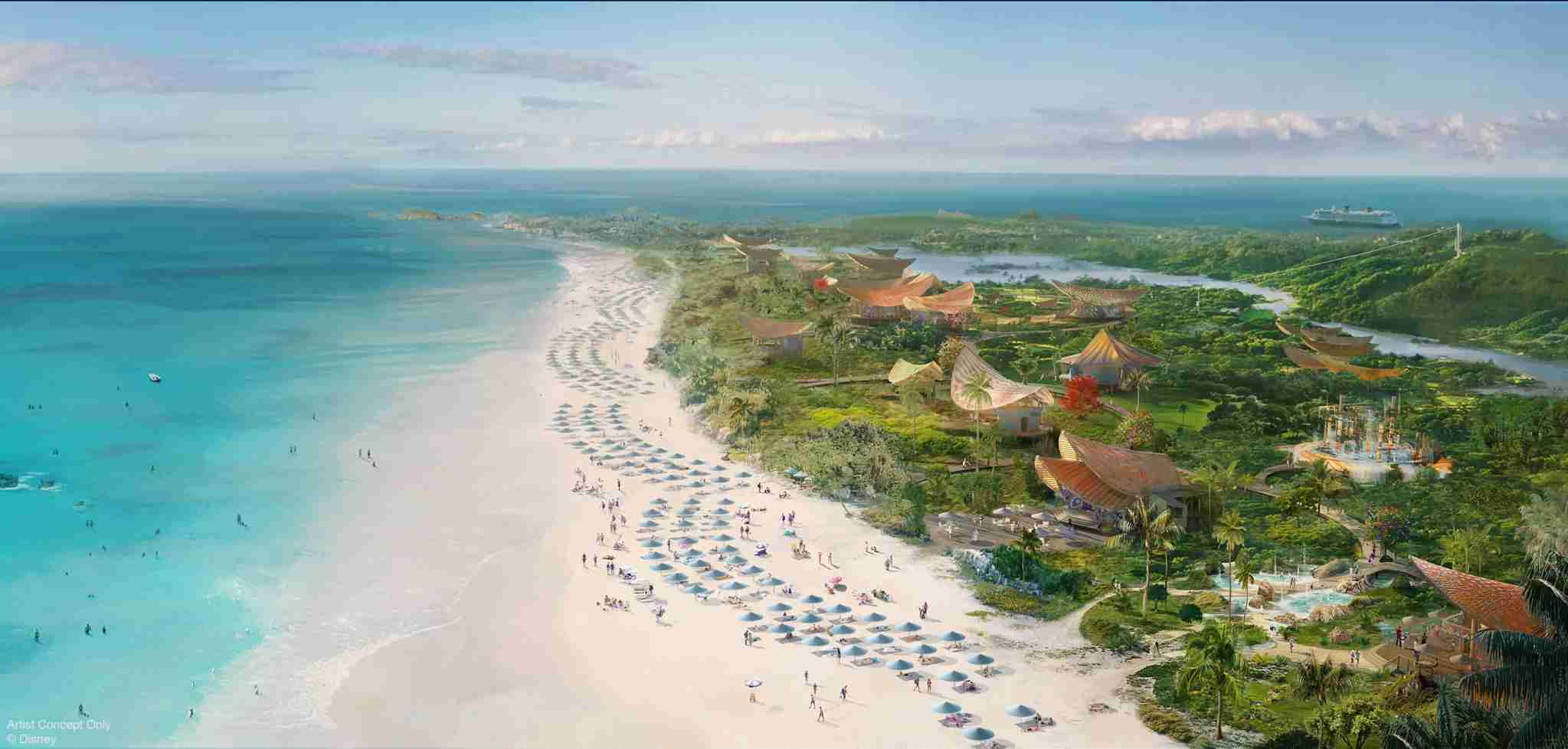 Disney is building a new signature island experience on Eleuthera at a place called Lighthouse Point. (Photo courtesy of Disney Cruise Line)