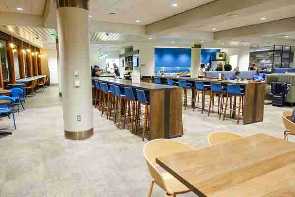 Alaska Airlines lounge at LAX (Photo by Benji Stawski/The Points Guy)