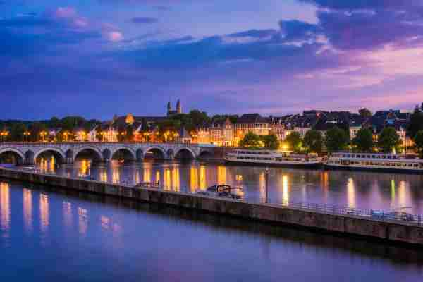 Maastricht Netherlands and the Maas River. (Photo by Allard1/Getty Images)