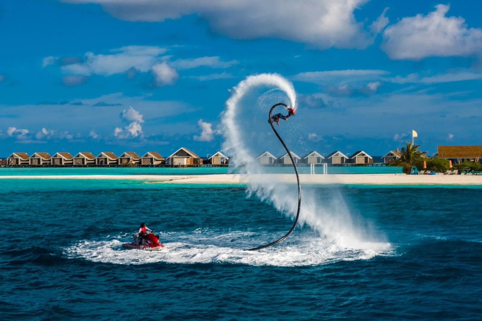 For the more adventures, try Fly Boarding! (Photo by levente bodo/Getty Images)