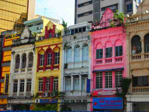 Colorful shop fronts in Kuala Lumpur