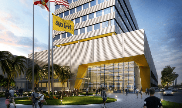 Rendering of Spirit Airlines