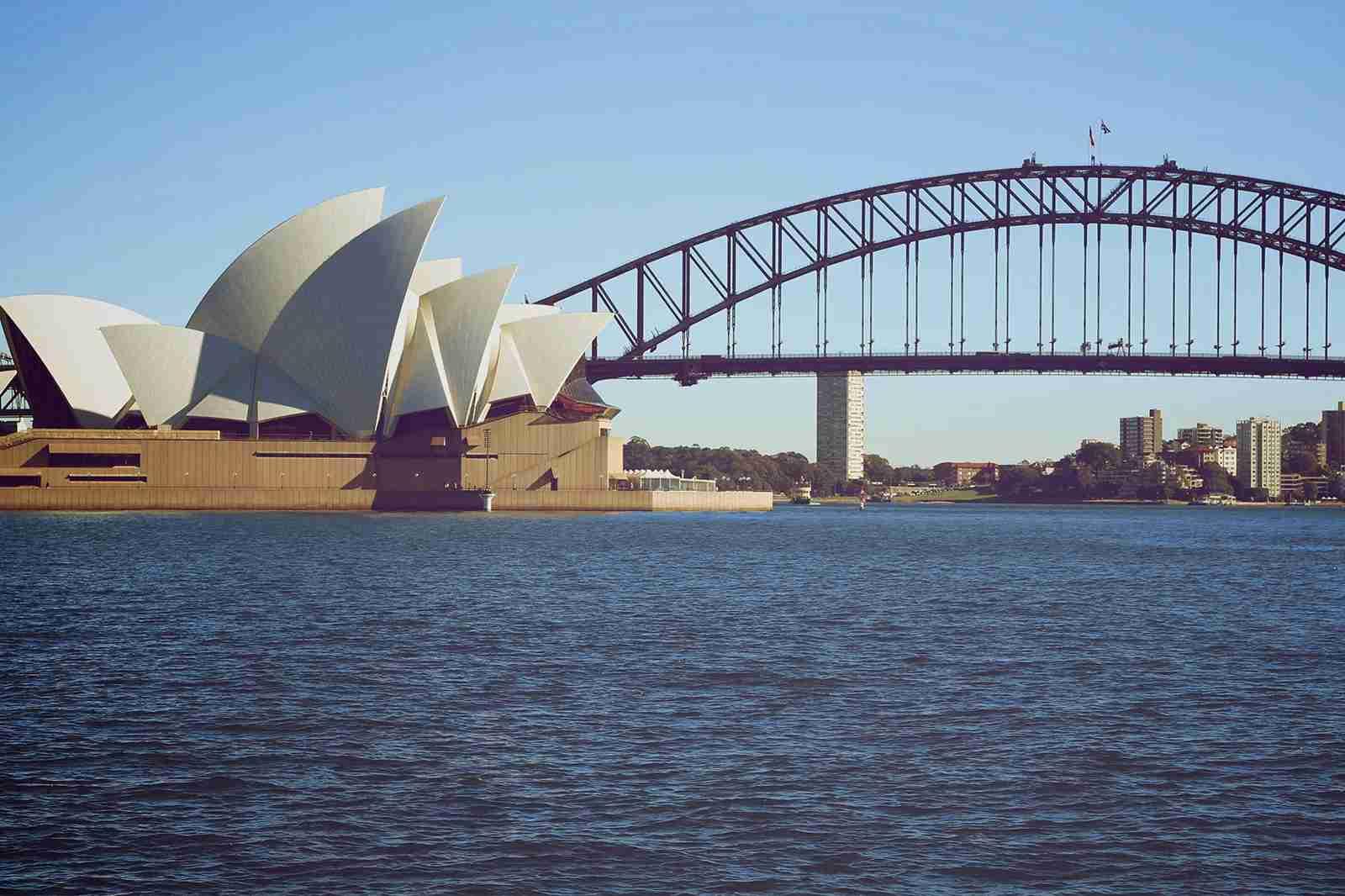 Sydney Harbor bridge and the Sydney Opera House. (Photo by Wyatt Smith/The Points Guy)