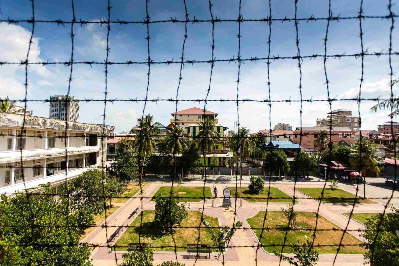 The Tuol Sleng Genocide Museum at the Toul Sleng Prison. (Photo by Manuel ROMARIS/Getty Images)