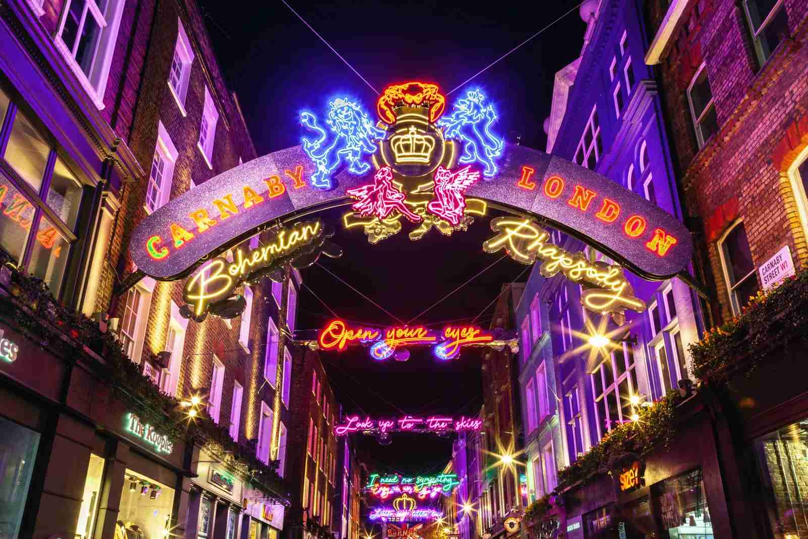 Carnaby Street in London. (Photo by Circle Creative Studio/Getty Images)