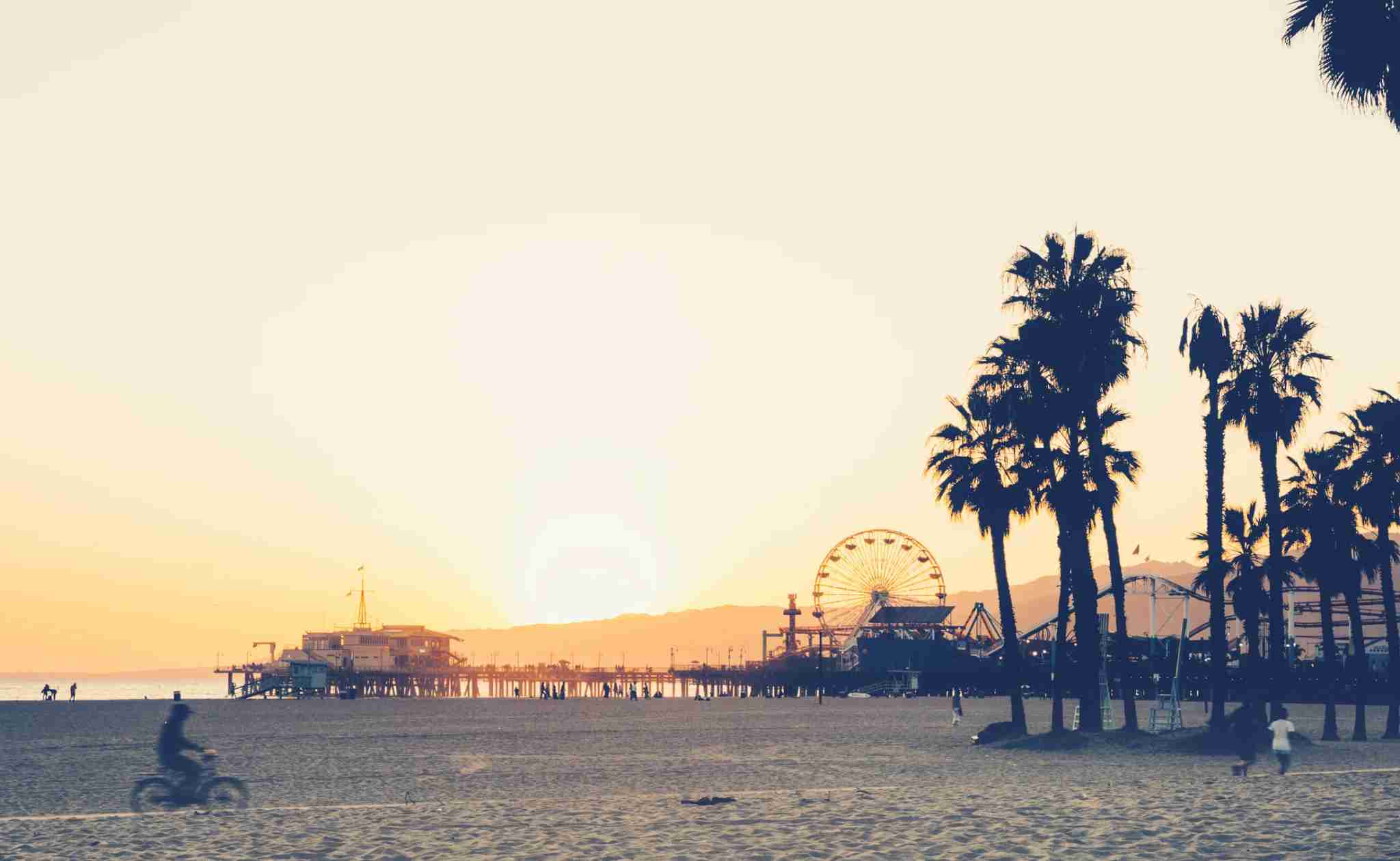 Santa Monica beach and pier at sunset. (photo courtesy of Andreas Aydt)
