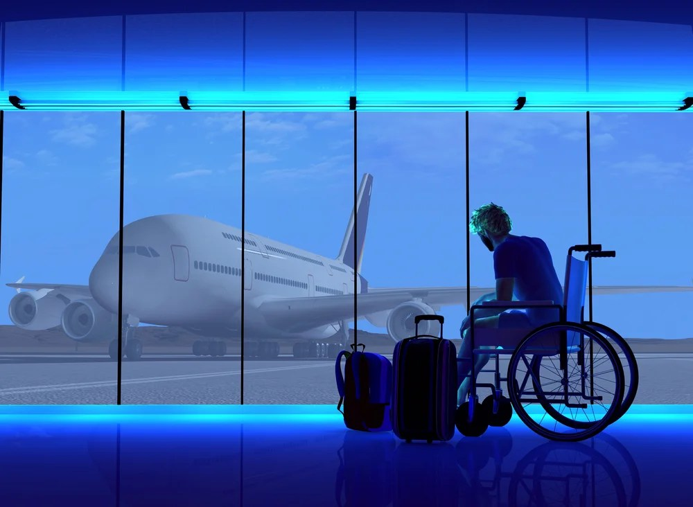 An airline is testing technology to make travel easier for people with disabilities
