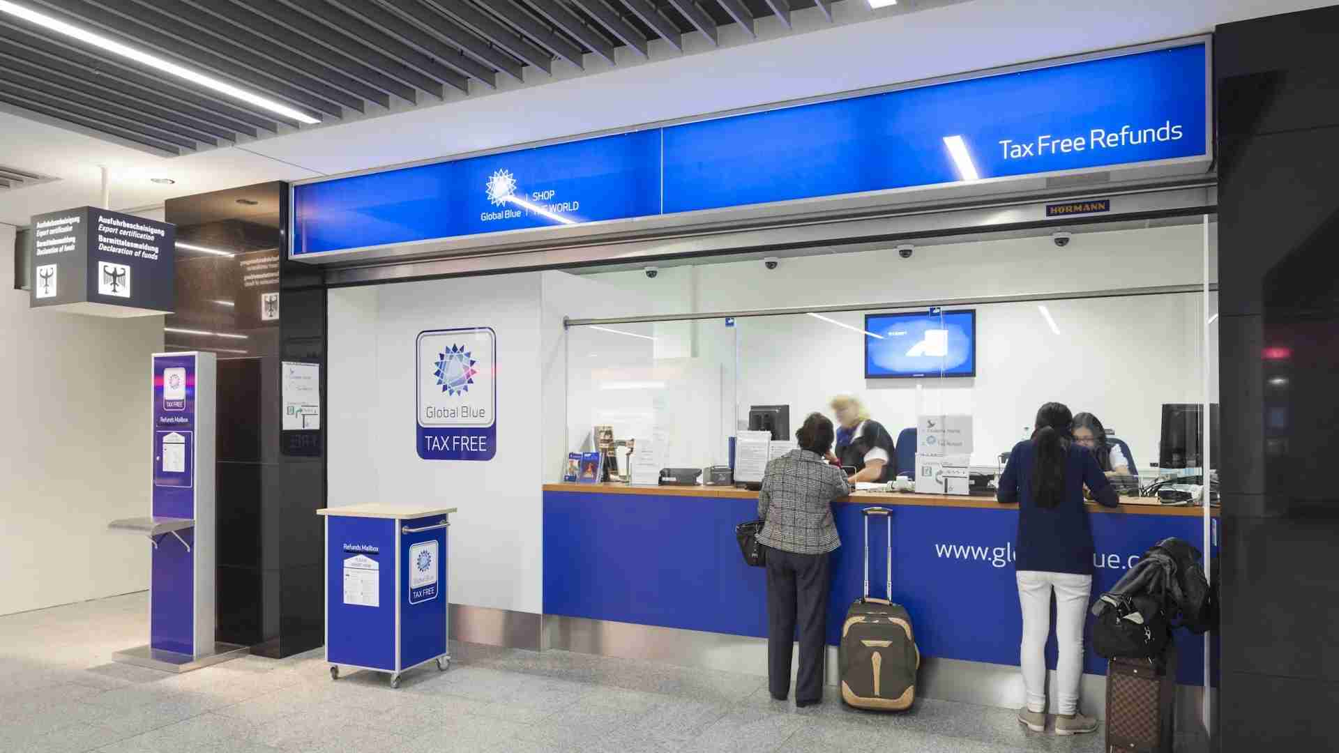 VAT refund agencies like Global Blue have locations in major airports where you can get your VAT refund. (Frankfurt Airport)