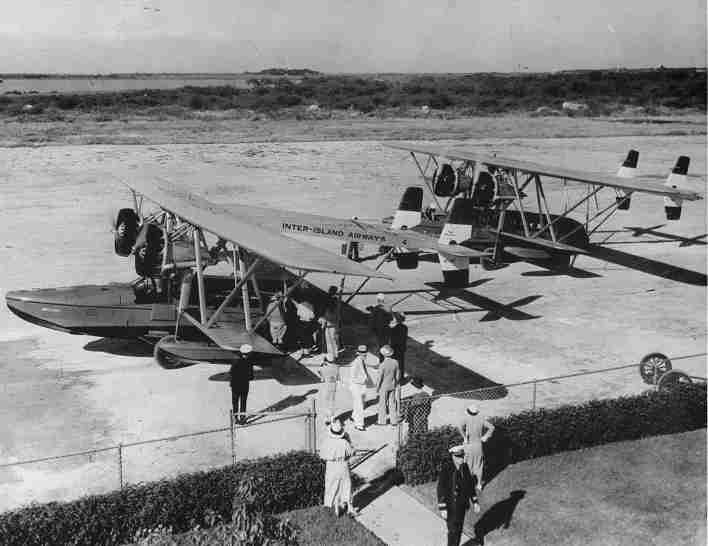 El precursor de Hawaiian Airlines Inter-Island Airways comenzó los vuelos programados de pasajeros con aviones Sikorsky S ‑ 38 el 11 de noviembre de 1929. (Foto cortesía de Hawaiian Airlines)