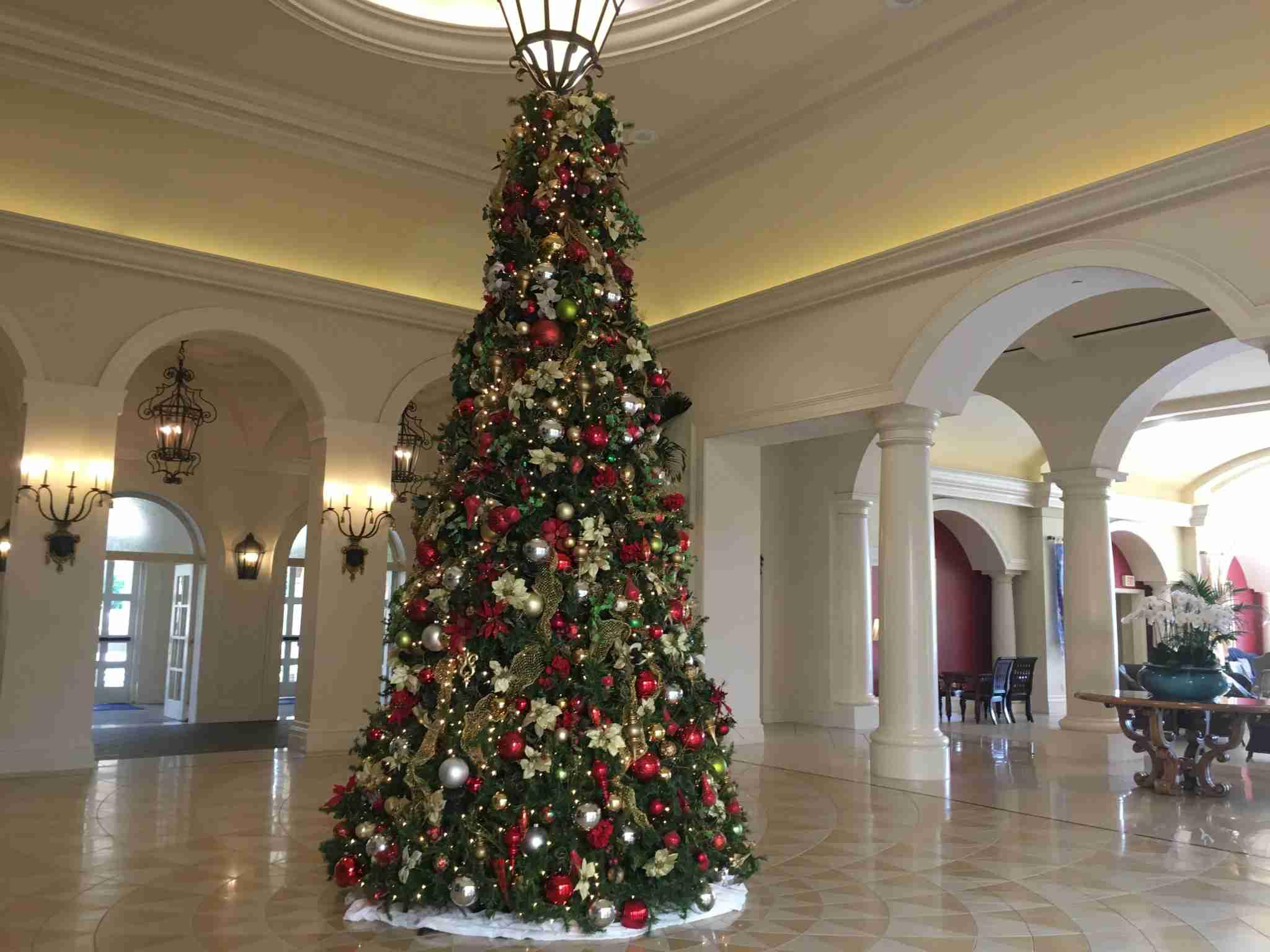 Christmas tree at Loews Portofino Bay Hotel