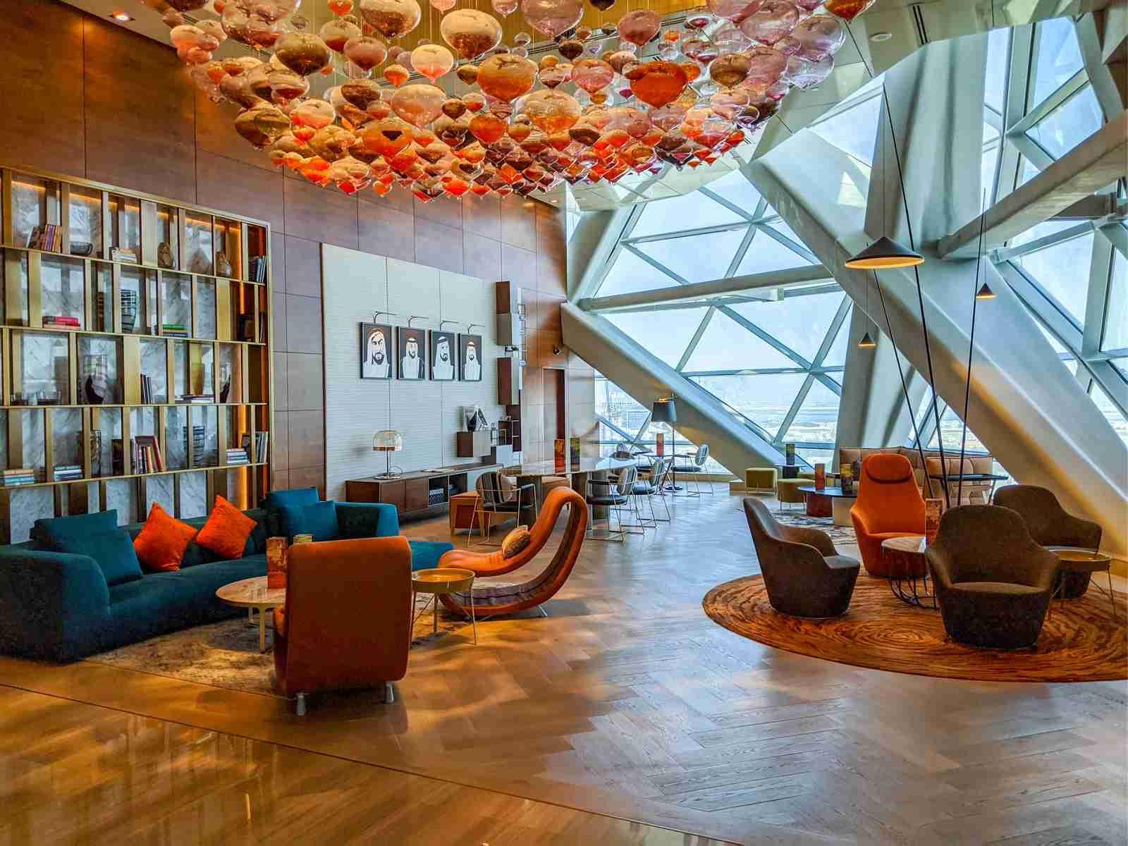 Hyatt Andaz Capital Gate Abu Dhabi lobby