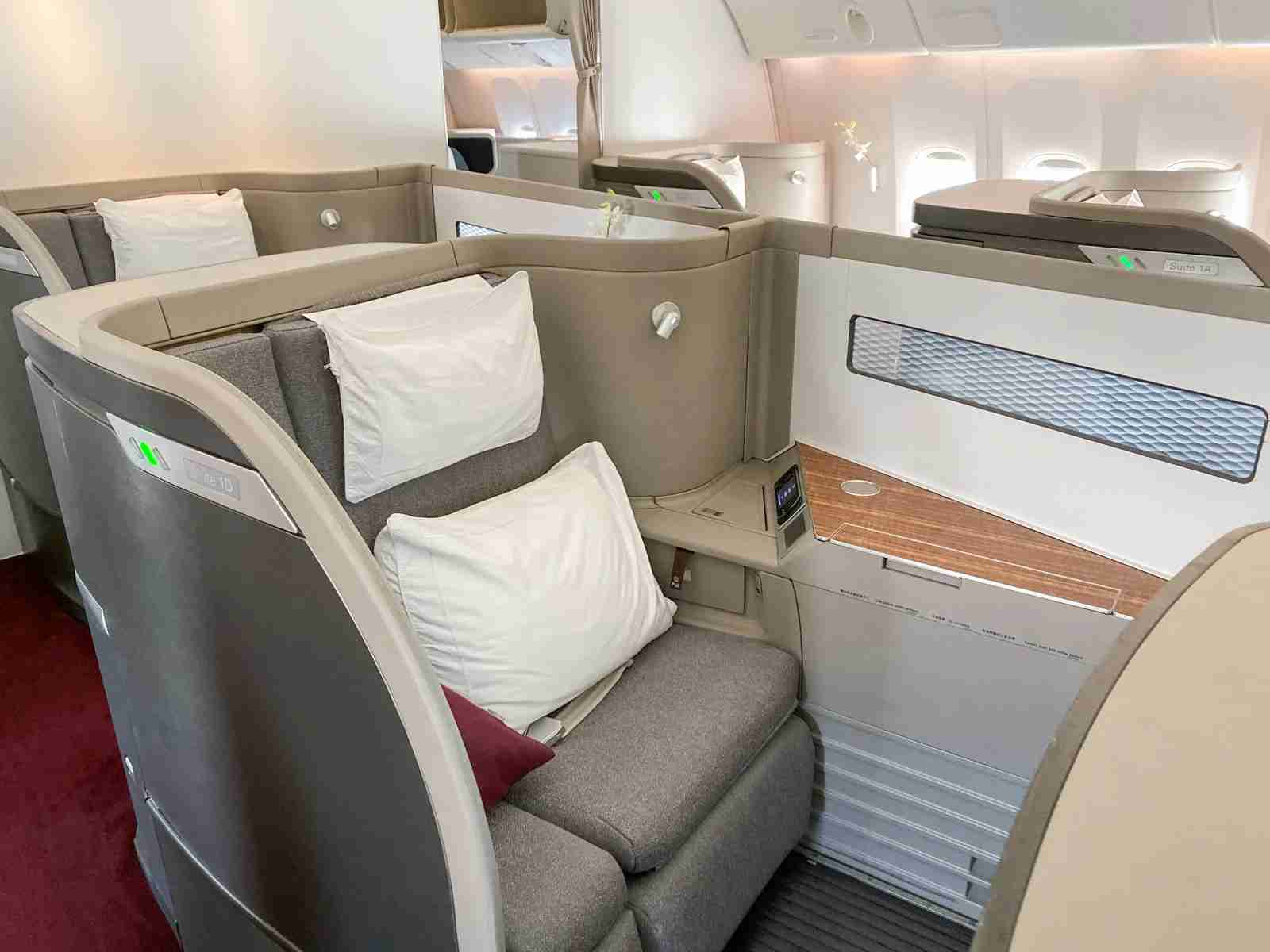 Cathay Pacific First Class (Photo by Emily McNutt/The Points Guy)