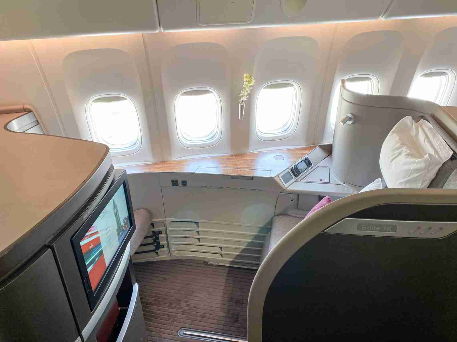 Have you flown in Cathay Pacific first class yet? (Photo by Emily McNutt / The Points Guy)