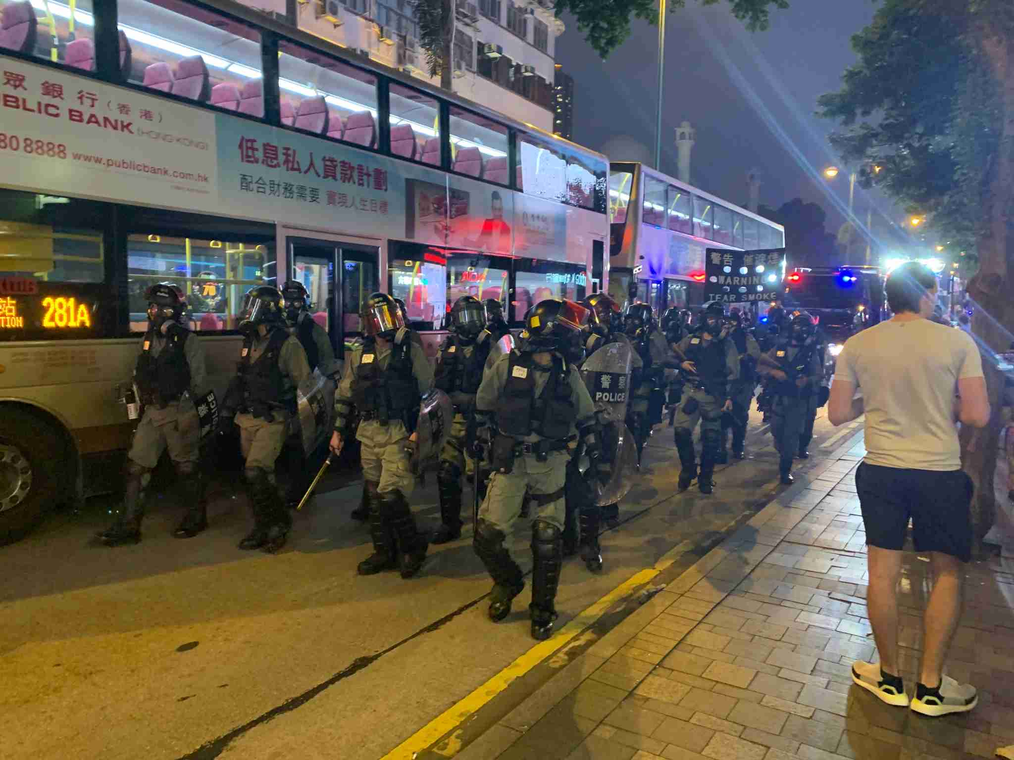 Protest in the Tsim She Tsui section of Hong Kong on October 27, 2019