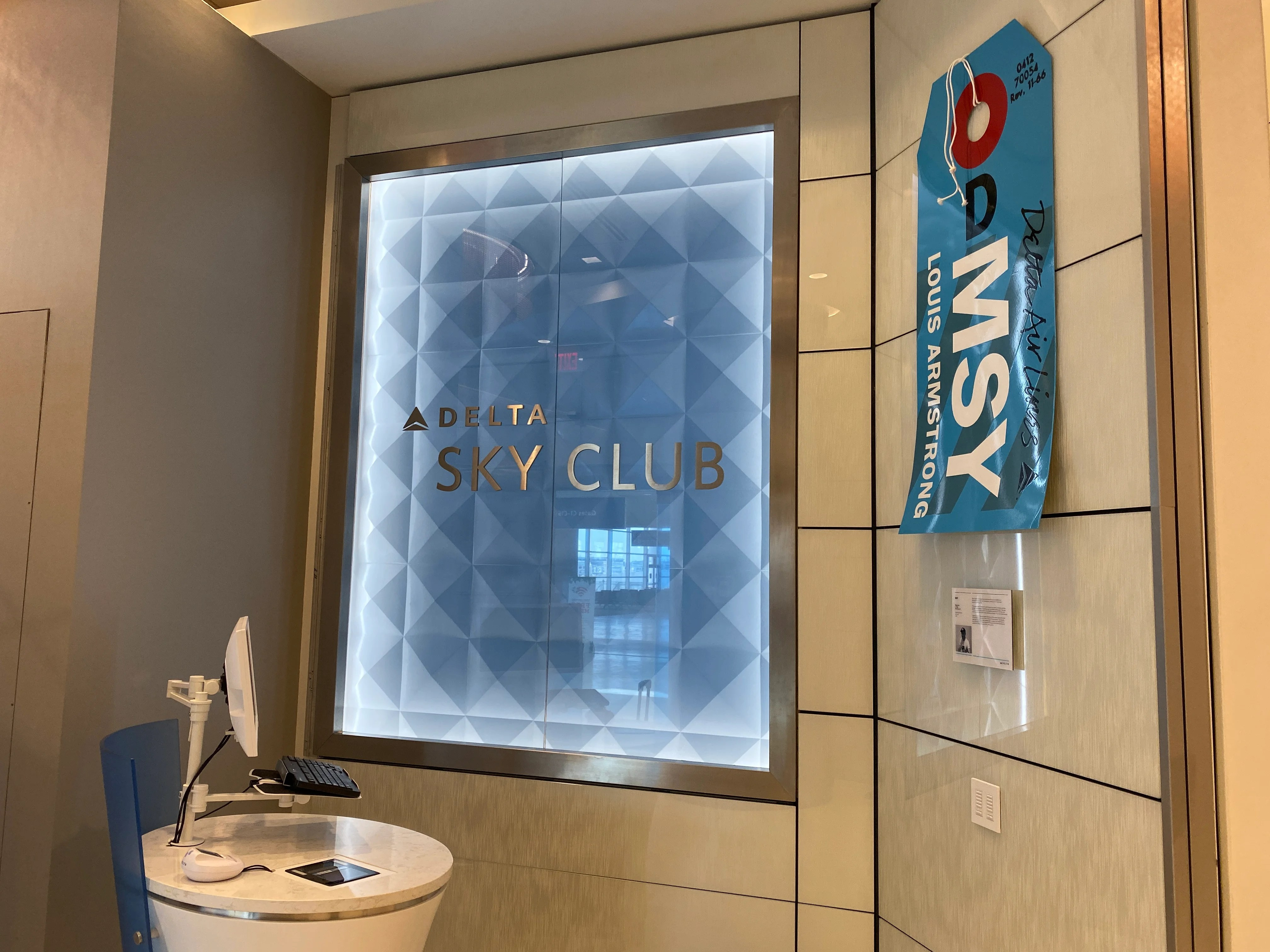 Sneak peek: Delta's stunning new Sky Club at New Orleans' new airport terminal