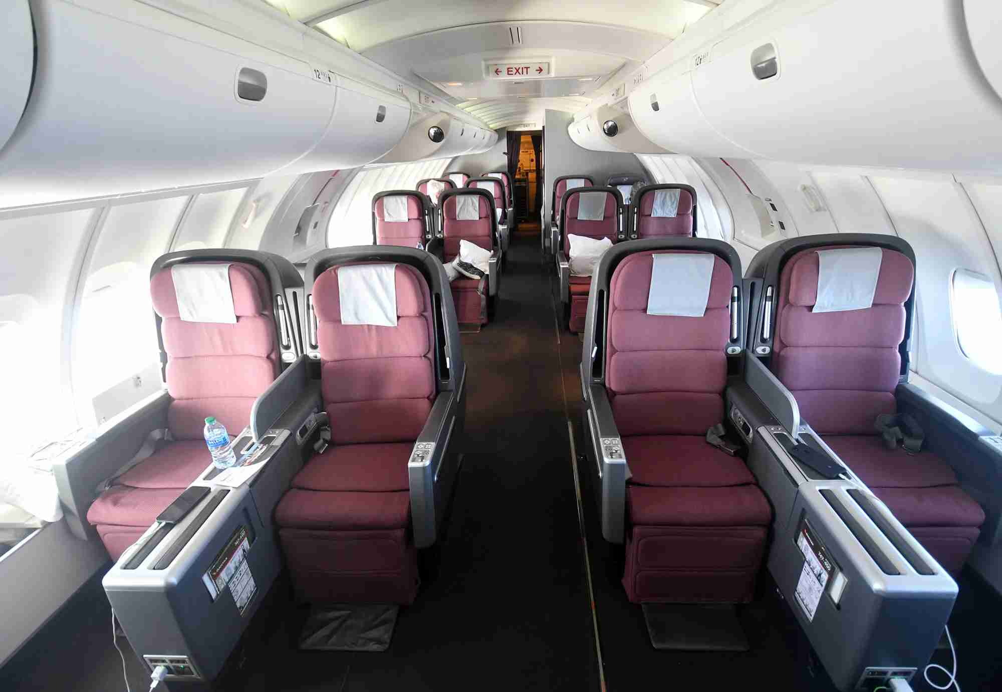 The upper deck on a Qantas Boeing 747-400 (Photo by Alberto Riva/The Points Guy)