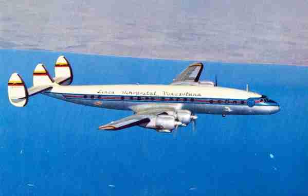 A Lockheed Constellation of Aeropostal Alas de Venezuela.