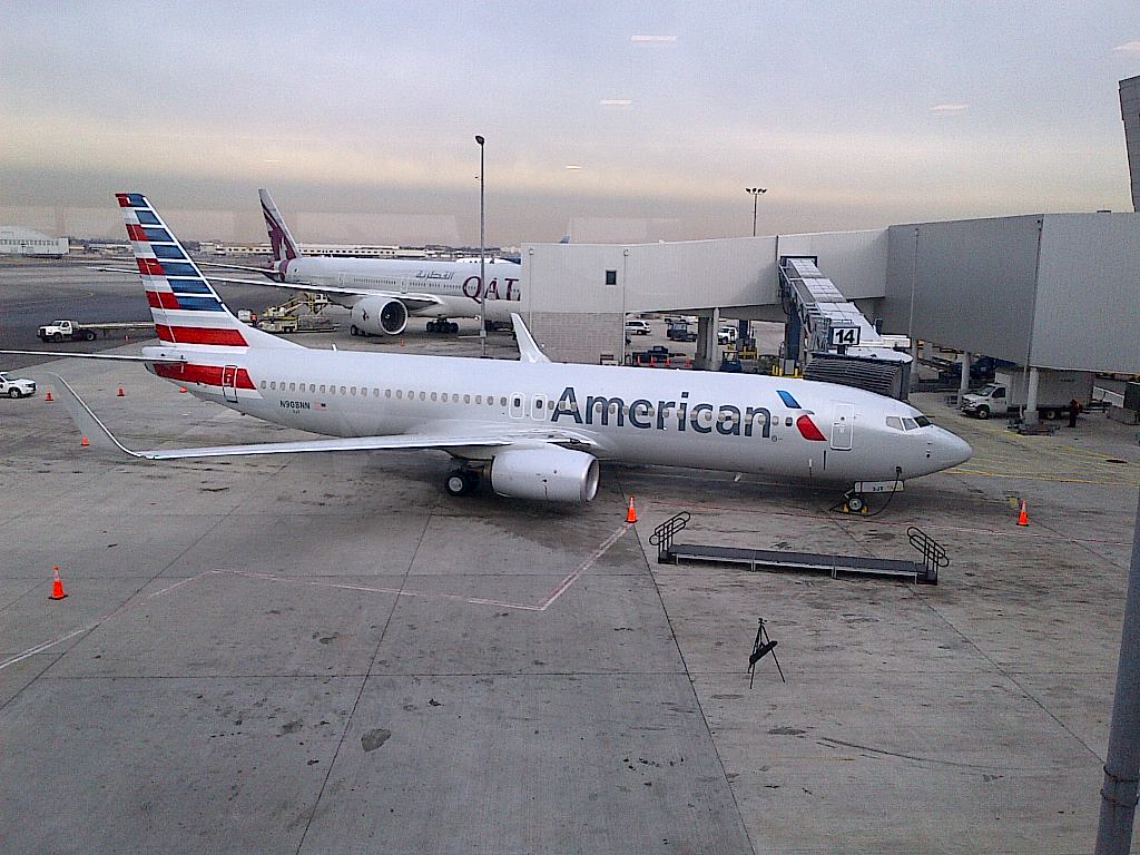AA jet on the tarmac at JFK from January 2014. Photo by Clint Henderson/The Points Guy.