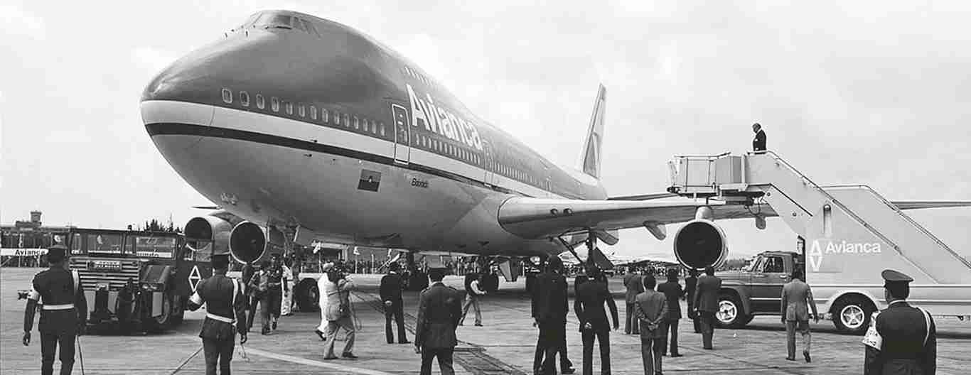 Avianca took delivery of its first Boeing 747 in December 1976. (Photo courtesy of Avianca)