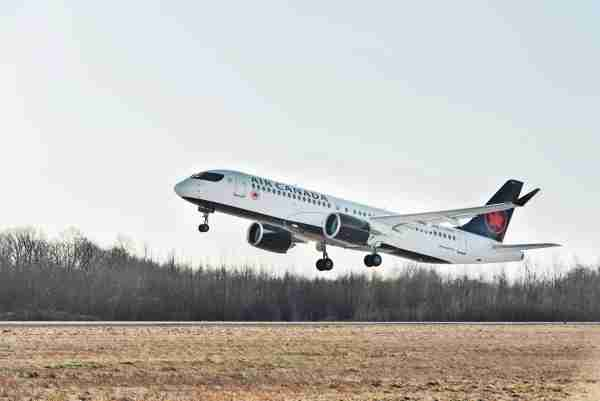 Air Canada's first Airbus A220-300 took its maiden flight on Dec. 11, 2019. (Photo courtesy of Airbus)