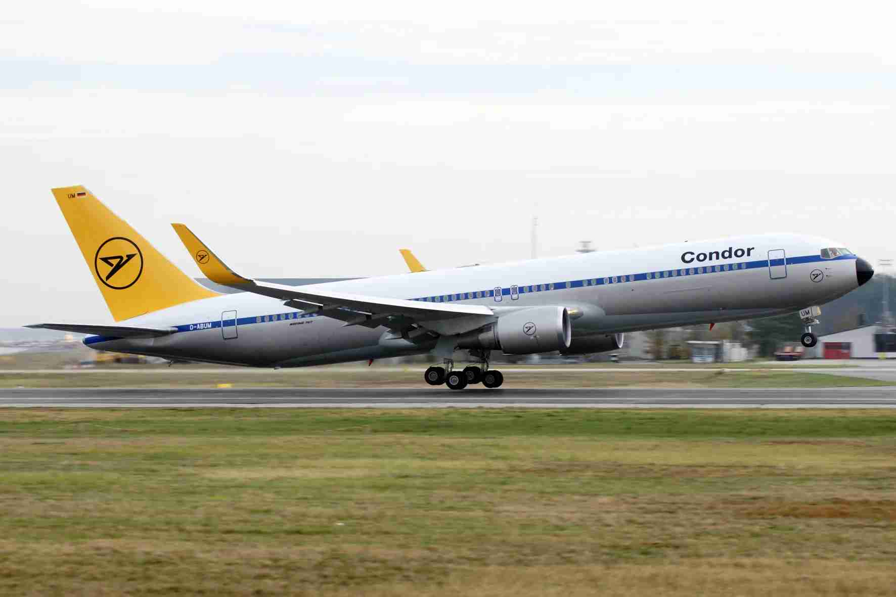 A Condor Boeing 767-300ER in a heritage livery. (Photo courtesy of Condor)