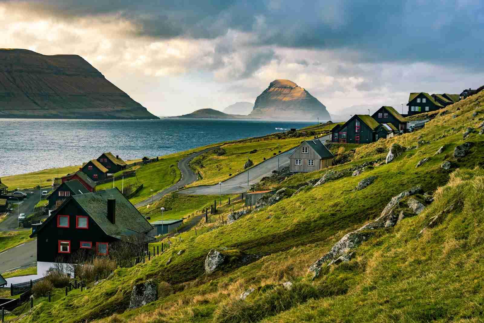 Kirkjubøur and Koltur in the Faroe Islands. (Photo by Posnov/Getty Images)