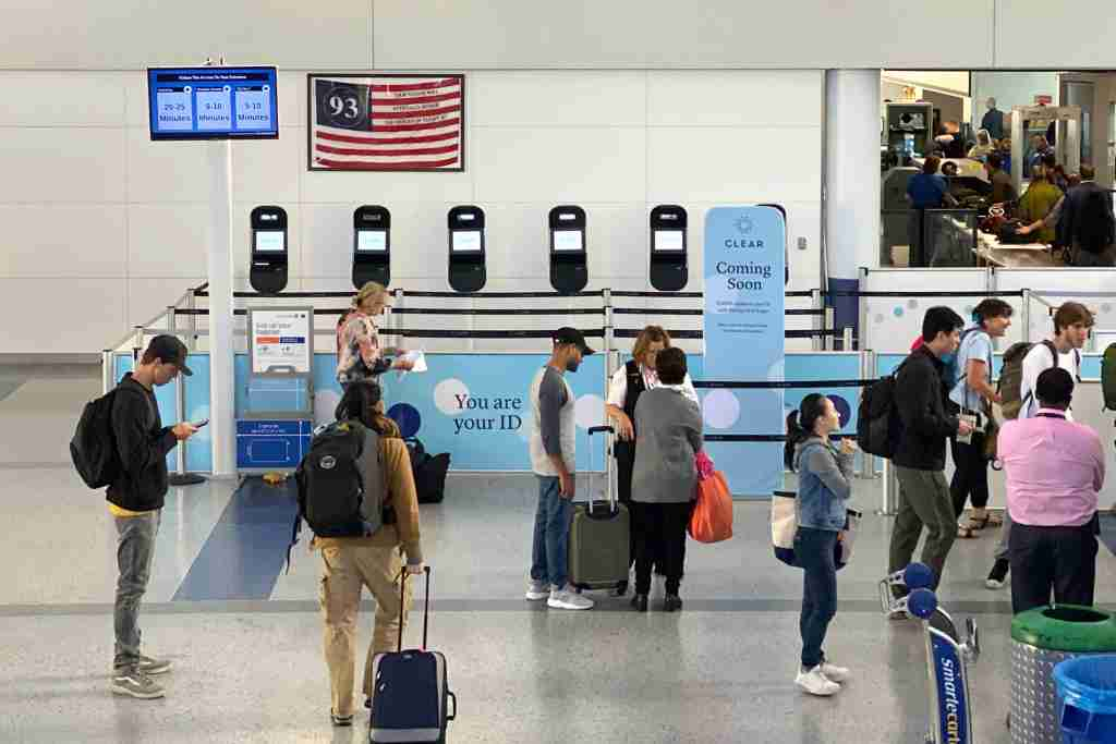 United has added Clear checkpoints throughout the U.S., including here at Newark
