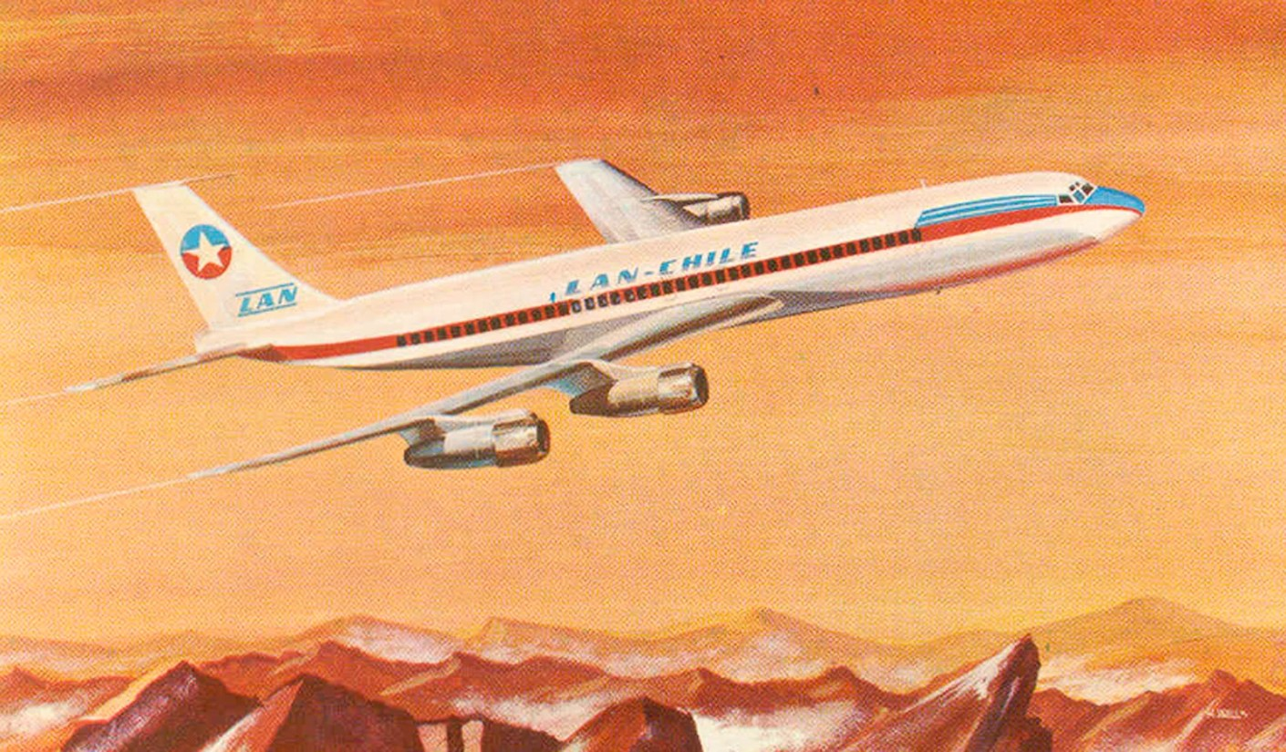 An artist's rendering of a LAN-Chile 707.