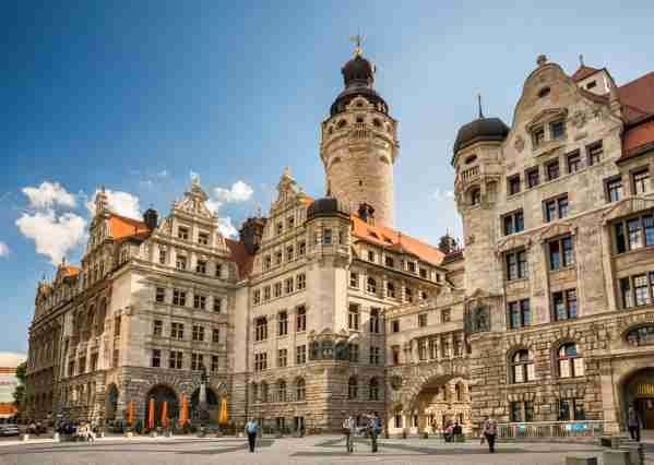 The New City Hall in Leipzig. (Photo by Witold Skrypczak/Getty Images)