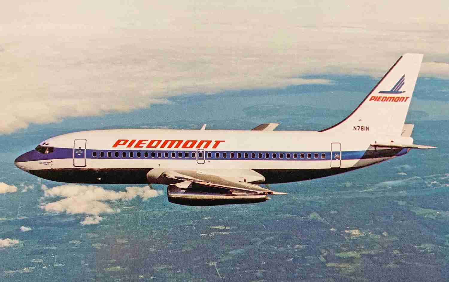 "One of Piedmont's ""Pacemaker"" 737s."