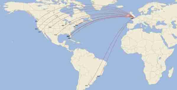 The Norwegian Air UK route map in June 2020. (Image by Cirium)