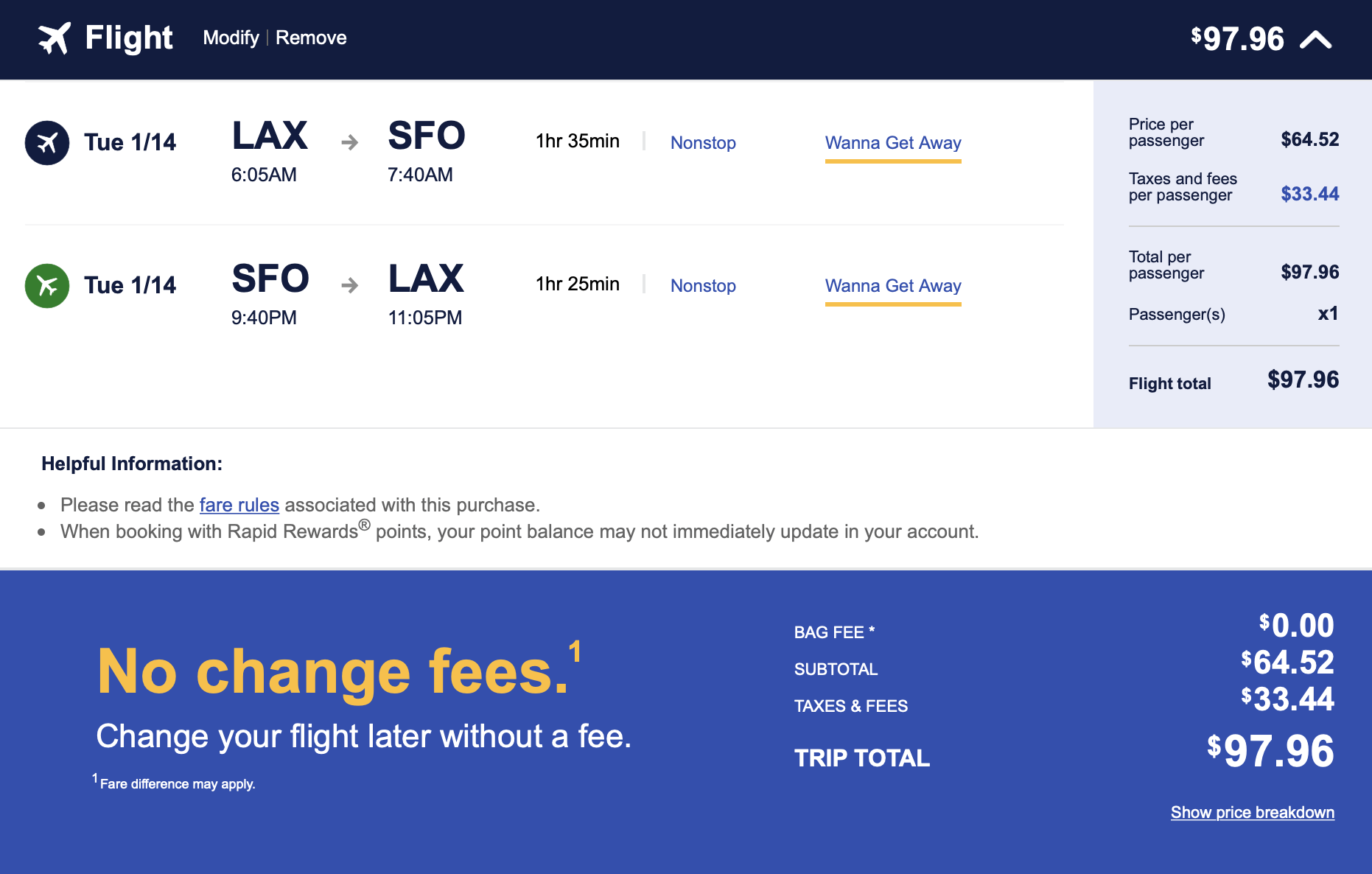 Note that although flights are blocked for an hour and a half, it actually takes under an hour.