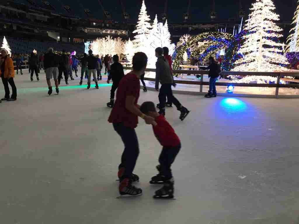 Ice skating rentals are included with VIP admission (Terry-Ward)