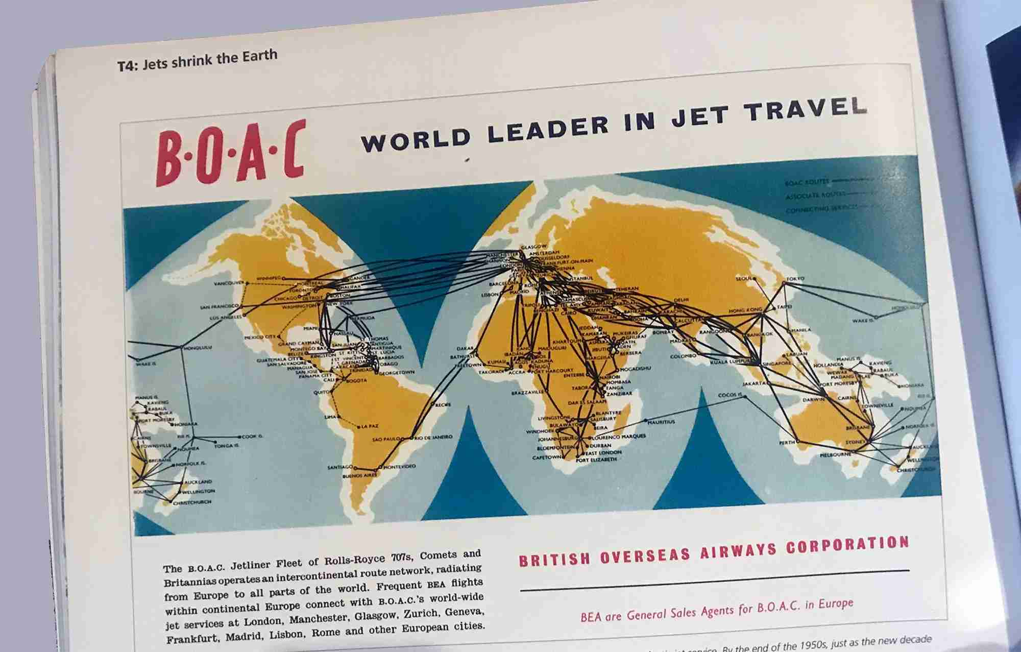 Airline Maps Excerpt, showing a BOAC map. Image by author.