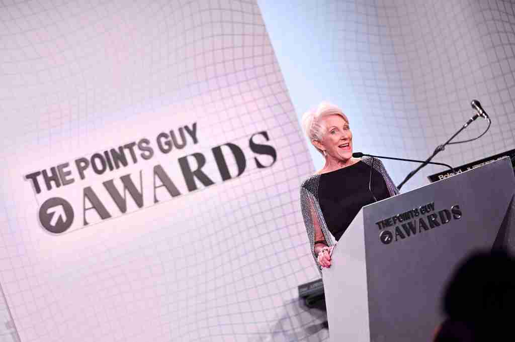 NEW YORK, NEW YORK - DECEMBER 09: Beverley Bass speaks onstage during The 2019 TPG Awards at The Intrepid Sea, Air & Space Museum on December 09, 2019 in New York City. (Photo by Mike Pont/Getty Images for The Points Guy)
