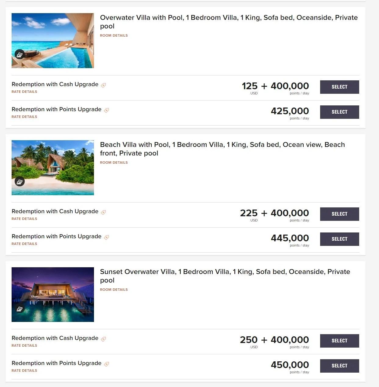 st regis maldives pricing