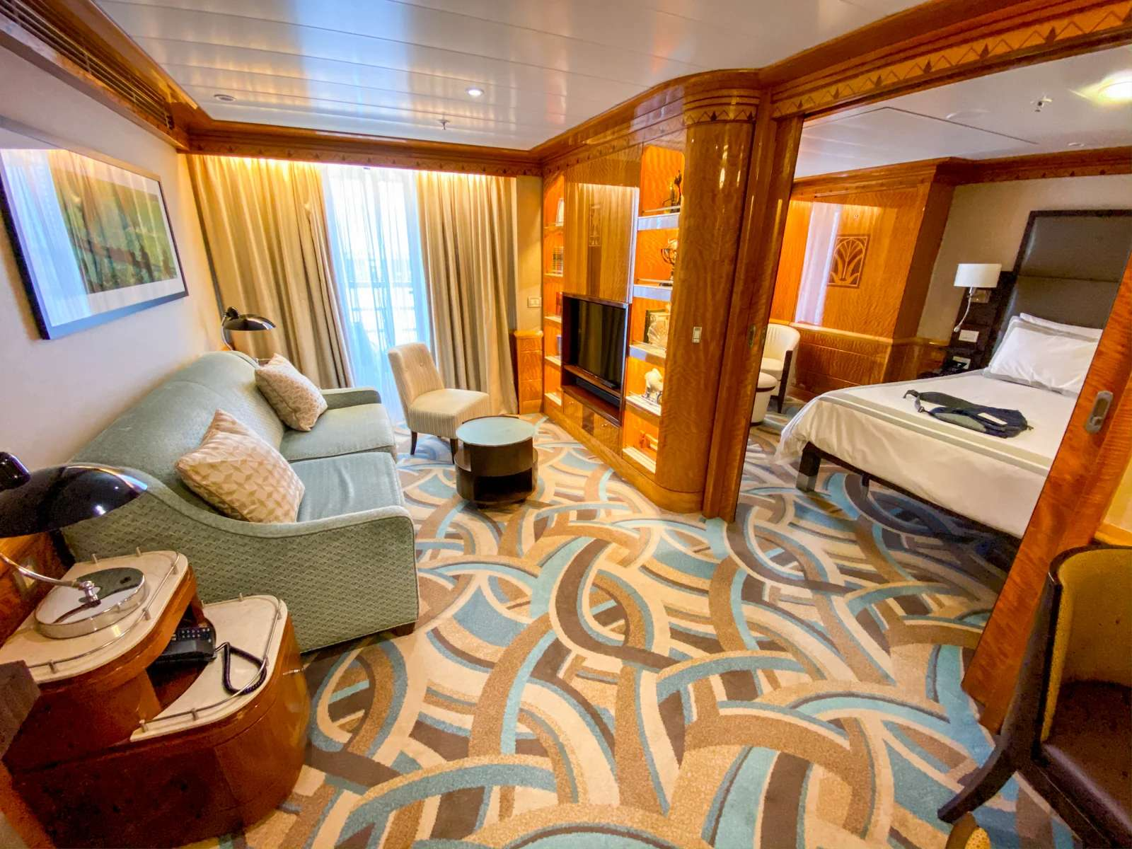 One-bedroom suites on the Disney Wonder (Photo by Summer Hull/The Points Guy)